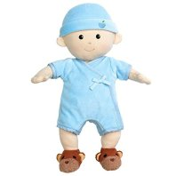 Organic Baby Doll Apple Park Baby Boy With Bunny Booties
