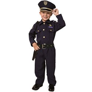 Policeman Halloween Costume for a Toddler
