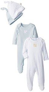 Non-Toxic Holiday Gift - Burt's Bees Baby Organic Cotton Coveralls and Knot Top Hats