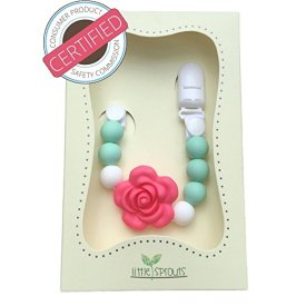 Little Sprouts Silicone Beads Pacifier Holder