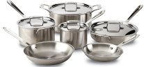 Non Toxic Cookware - All Clad 18/10 Stainless Steel 5 Ply Cookware Set
