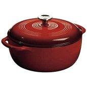 Non Toxic Cookware - Lodge Enameled Cast Iron Dutch Oven 6 Qt