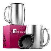 Non Toxic Mugs - Finedine Insulated Stainless Coffee Mugs