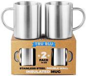 Non Toxic Mugs - Tru Blue Steel Insulated Stainless Steel Coffee Mugs