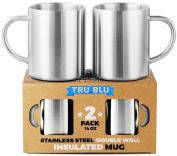 Non Toxic Mugs - Tru Blue Steel Insulated Stainless Steel Coffee Mugs