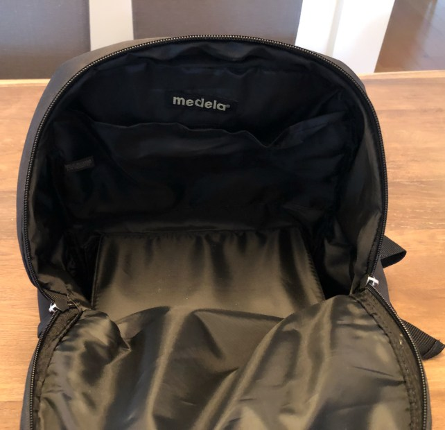 Medela Pump In Style Review - Backpack Inside