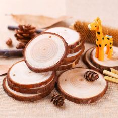 Non Toxic Christmas Decorations - Fuyit Natural Wood Slices For Christmas Ornaments DIY Crafts