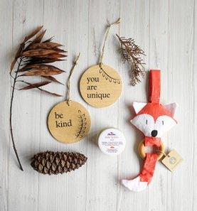Non Toxic Christmas Decorations - Handmade Organic Baby Shower Gift Christmas Edition