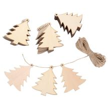 Non Toxic Decorations - Sumind 30 Pieces Wood Christmas Tree Decoration