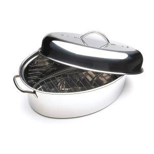 Non Toxic Turkey Roasting Pans - Fox Run Stainless Steel Oval Roaster