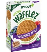 Healthy Snacks For Kids - Sprout Organic Wafflez Blueberry Apple