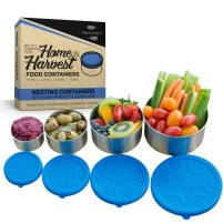 Healthy Snack Containers For Kids - Home And Harvest Stainless Steel Food Storage Containers