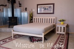 Solid Wood Platform Bed - Organic Lifestyle Mission Untreated Solid Wood Bed Frame
