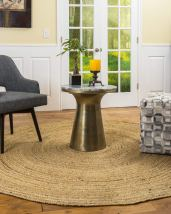 Non Toxic Rugs - Natural Area Rugs Elsinore Beige Braided Jute Rug