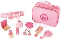 Non Toxic Gifts For Preschoolers - Award Winning Hape Beauty Belongings Kid's Wooden Cosmetics Pretend Play Kit