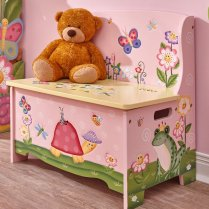 Non Toxic Gifts For Preschoolers - Fantasy Fields Magic Garden Wooden Toy Storage Bench