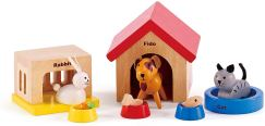 Non Toxic Gifts For Preschoolers - Hape Family Pets Wooden Doll House Animals