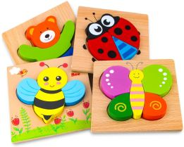 Non Toxic Gifts For Preschoolers - SKYFIELD Wooden Animal Jigsaw Puzzles for Toddlers