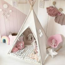 Non Toxic Gifts For Preschoolers - Tiny Land Kids Teepee Tent with Padded Mat