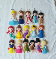 Non Toxic Gifts For Preschoolers - Felted Disney Princess Inspired, Christmas Tree Ornaments
