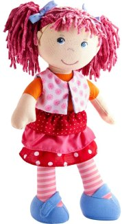 Non Toxic Gifts For Preschoolers - HABA Lilli-Lou 12 Soft Doll with Pink Hair in Pigtails