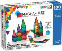 Non Toxic Gifts For Preschoolers - Magna-Tiles Clear Colors 100 Piece Set