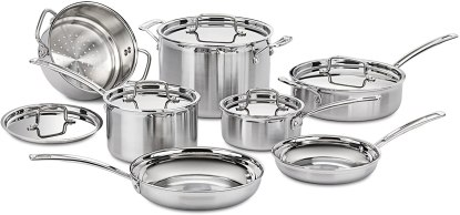Stainless Steel Cookware - Cuisinart MCP-12N Multiclad Pro Stainless Steel 12-Piece Cookware Set