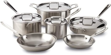 Stainless Steel Cookware - All-Clad Brushed D5 5-Ply Stainless Cookware Set