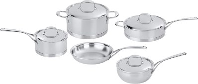 Stainless Steel Cookware - Demeyere Atlantis 9-pc Stainless Steel Cookware Set
