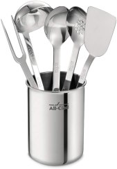 Non Toxic Cooking Utensils - All-Clad Professional Stainless Steel Kitchen Tool Set