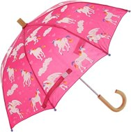 Non Toxic Umbrella for Kids -Hatley Girls' Little Printed Umbrellas, Rainbow Unicorns