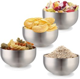 Stainless Steel Dinnerware For Kids - Devico Soup Cereal Bowls