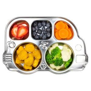 Stainless Steel Dinnerware For Kids - Innobaby Din Din Smart Stainless Divided Platter