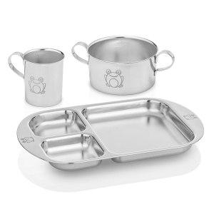 Stainless Steel Dinnerware For Kids - Kiddobloom Children Stainless Steel Dinnerware Set