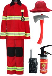 Non Toxic Halloween Costumes For Kids - ReliBeauty Children Firefighter Role Play Fireman Costume for Kids