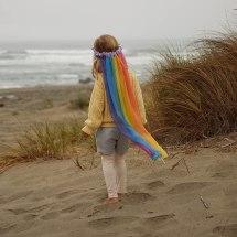 Non Toxic Halloween Costumes For Kids - Sarah's Silk Rainbow Veil