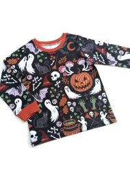 Non Toxic Halloween Shirt For Kids - TubsTogs Organic Cotton Halloween Shirt
