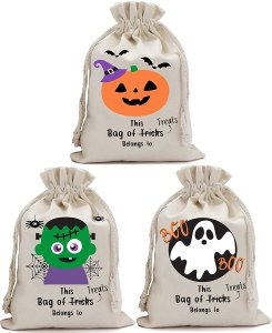 Non Toxic Halloween Trick Or Treat Bag For Kids - Partay Shenanigans Halloween Tote Sacks