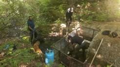Izvorul de pe traseul Cozluk din Munții Măcinului a fost curățat și igienizat de un grup de voluntari. FOTO Turtle Camp