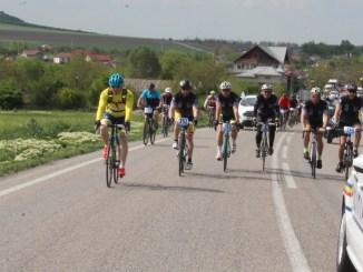 O mică parte dintre bicicliștii care au participat la acțiune. FOTO IPJ Constanța