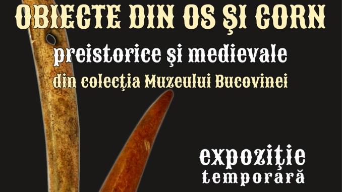 Afișul expoziției: obiecte de os și corn