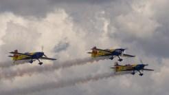 Piloții și spectatorii au avut parte de un cer perfect la Black Sea Air Show. FOTO Cătălin SCHIPOR