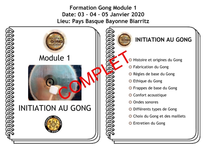 Formation Gong - Initiation - Janvier 2020 - Biarritz Bayonne