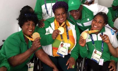 Nigeria's paralympic team...dominated the Nigeria Sports Award ceremony