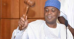 Senator Bukola Saraki President of Nigerian Senate...got letter from Maina but did not rule on it