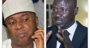 Dr Bukola Saraki and Mr Ibrahim Magu