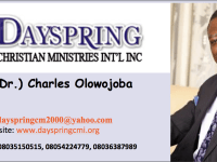 Bishop (Dr) Charles Olowojoba, Dayspring Bible Church...Sunday Sermon