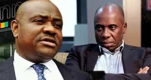Governor Nyesom Wike and Minister Rotimi Amaechi...in the Ikoyi $43 million scandal