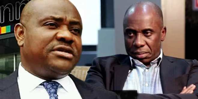 Governor Nyesom Wike and Minister Rotimi Amaechi...in the Ikoyi $43 million scandal