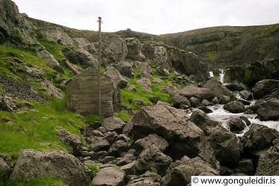 Stóra Giljá, dælustöðin og gilið